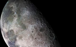 "<h1>PIA00404:  Moon - North Polar Mosaic, Color</h1><div class=""PIA00404"" lang=""en"" style=""width:800px;text-align:left;margin:auto;background-color:#000;padding:10px;max-height:150px;overflow:auto;""><p>During its flight, the Galileo spacecraft returned images of the Moon. The Galileo spacecraft surveyed the Moon on December 7, 1992, on its way to explore the Jupiter system in 1995-1997. The left part of this north pole view is visible from Earth. This color picture is a mosaic assembled from 18 images taken by Galileo's imaging system through a green filter. The left part of this picture shows the dark, lava-filled Mare Imbrium (upper left); Mare Serenitatis (middle left), Mare Tranquillitatis (lower left), and Mare Crisium, the dark circular feature toward the bottom of the mosaic. Also visible in this view are the dark lava plains of the Marginis and Smythii Basins at the lower right. The Humboldtianum Basin, a 650-kilometer (400-mile) impact structure partly filled with dark volcanic deposits, is seen at the center of the image. The Moon's north pole is located just inside the shadow zone, about a third of the way from the top left of the illuminated region. The Galileo project is managed for NASA's Office of Space Science by the Jet Propulsion Laboratory.<br /><br /><a href=""http://photojournal.jpl.nasa.gov/catalog/PIA00404"" onclick=""window.open(this.href); return false;"" title=""Voir l'image 	 PIA00404:  Moon - North Polar Mosaic, Color	  sur le site de la NASA"">Voir l'image 	 PIA00404:  Moon - North Polar Mosaic, Color	  sur le site de la NASA.</a></div>"