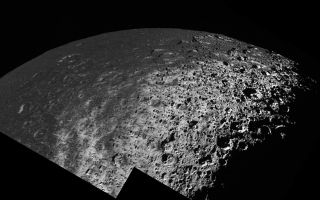 "<h1>PIA06170:  Iapetus: A View from the Top</h1><div class=""PIA06170"" lang=""en"" style=""width:800px;text-align:left;margin:auto;background-color:#000;padding:10px;max-height:150px;overflow:auto;""><p>This oblique view of Saturn's moon Iapetus from high latitude shows how the dark, heavily cratered terrain of Cassini Regio transitions to a bright, icy terrain at high latitudes.</p><p>In this mosaic of two high resolution images taken during Cassini's New Year's Eve 2004 flyby of Iapetus, the direction toward the north pole is approximately 15 degrees below the horizontal on the right. At the equator terrains are uniformly covered with a dark mantle of material that has a reflectivity of about 4 percent. At latitudes toward the pole of about 40 degrees, the dark deposits become patchy and diffuse as the surface transitions to a much brighter, icy terrain near the pole. The brightest icy materials exhibit visual reflectivity over 60 percent.</p><p>Superimposed on the bright terrain is a subtle, ghostly pattern of crudely parallel, north-south trending wispy streaks. The streaks, which were discovered during this flyby of Iapetus, are typically a few kilometers wide and sometimes tens of kilometers long. Their appearance and orientation may be connected with the emplacement of dark materials that cover Cassini Regio. The dark materials might represent the gradual accumulation of dark debris falling from space, or alternatively, may represent fallout from plume-style eruptions that may have accompanied the formation of Iapetus's enigmatic equatorial ridge (see <a href=""/catalog/PIA06166"">PIA06166</a>).</p><p>Also seen in this mosaic are conspicuous, north-facing bright crater walls. An example can be seen in the upper left where the bright, 4-kilometer-high (2.5 miles) walls of a 70 kilometer (44 mile) central-peak crater lies. </p><p>The bright crater walls are often higher in brightness than the corresponding south-facing walls of the same crater. They are vaguely reminiscent of bright north-facing crater walls that were discovered by NASA's Voyager and Galileo spacecraft in craters near the poles of the Jovian satellites Callisto and Ganymede. In the case of the Jovian satellites, cold-trapping of frosts on north-facing slopes and sublimation of ices from south-facing slopes are thought to produce the north-south asymmetries in crater wall brightness. However, the occurrence of some young-appearing craters on Iapetus that have bright north-facing and dark south-facing slopes, and the pattern of streaks near the north pole of Iapetus suggests that another mechanism may be responsible for the crater wall brightness asymmetries on Iapetus.</p><p>One possibility is that the south-facing slopes may be stained by the same process that emplaced the low brightness coating throughout the region. In this case, the north-pointing scarps might be bright because they face away and are shielded from the putative falling spray of dark materials. Bright south-facing slopes would exist primarily on young craters that have not been exposed to the darkening agent long enough to be stained.</p><p>The image was obtained in visible light with the Cassini spacecraft narrow angle camera on Dec. 31, 2004, at a distance of about 123,370 kilometers (76,658 miles) from Iapetus and at a Sun-Iapetus-spacecraft, or phase, angle of 93 degrees. Resolution achieved in the original image was 732 meters (2,401 feet) per pixel.</p><p>The Cassini-Huygens mission is a cooperative project of NASA, the European Space Agency and the Italian Space Agency. The Jet Propulsion Laboratory, a division of the California Institute of Technology in Pasadena, manages the mission for NASA's Science Mission Directorate, Washington, D.C. The Cassini orbiter and its two onboard cameras were designed, developed and assembled at JPL. The imaging team is based at the Space Science Institute, Boulder, Colo.</p><p>For more information about the Cassini-Huygens mission visit <a href=""http://saturn.jpl.nasa.gov"">http://saturn.jpl.nasa.gov</a>. For images visit the Cassini imaging team home page <a href=""http://ciclops.org"">http://ciclops.org</a>.</p><br /><br /><a href=""http://photojournal.jpl.nasa.gov/catalog/PIA06170"" onclick=""window.open(this.href); return false;"" title=""Voir l'image 	 PIA06170:  Iapetus: A View from the Top	  sur le site de la NASA"">Voir l'image 	 PIA06170:  Iapetus: A View from the Top	  sur le site de la NASA.</a></div>"