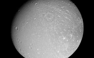 "<h1>PIA09772:  Facing Dione</h1><div class=""PIA09772"" lang=""en"" style=""width:800px;text-align:left;margin:auto;background-color:#000;padding:10px;max-height:150px;overflow:auto;""><p>Canyons slink southward on Dione, while bright-walled craters gleam in the sun. The Cassini spacecraft imaged this same region from a more southerly viewpoint during an approach earlier this year (see <a href=""/catalog/PIA08956"">PIA08956</a>).</p><p>This view is centered on 9 degrees north latitude, 51 degrees west longitude. North on Dione (1,126 kilometers, or 700 miles across) is up.</p><p>The image was taken in polarized green light with the Cassini spacecraft narrow-angle camera on Sept. 30, 2007. The view was acquired at a distance of approximately 197,000 kilometers (122,000 miles) from Dione and at a Sun-Dione-spacecraft, or phase, angle of 25 degrees. Image scale is 1 kilometer (0.6 mile) per pixel.</p><p>The Cassini-Huygens mission is a cooperative project of NASA, the European Space Agency and the Italian Space Agency. The Jet Propulsion Laboratory, a division of the California Institute of Technology in Pasadena, manages the mission for NASA's Science Mission Directorate, Washington, D.C. The Cassini orbiter and its two onboard cameras were designed, developed and assembled at JPL. The imaging operations center is based at the Space Science Institute in Boulder, Colo.</p><p>For more information about the Cassini-Huygens mission visit <a href=""http://saturn.jpl.nasa.gov"">http://saturn.jpl.nasa.gov/home/index.cfm</a>. The Cassini imaging team homepage is at <a href=""http://ciclops.org"">http://ciclops.org</a>.<br /><br /><a href=""http://photojournal.jpl.nasa.gov/catalog/PIA09772"" onclick=""window.open(this.href); return false;"" title=""Voir l'image 	 PIA09772:  Facing Dione	  sur le site de la NASA"">Voir l'image 	 PIA09772:  Facing Dione	  sur le site de la NASA.</a></div>"