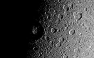"<h1>PIA09830:  Battered Dione</h1><div class=""PIA09830"" lang=""en"" style=""width:800px;text-align:left;margin:auto;background-color:#000;padding:10px;max-height:150px;overflow:auto;""><p>The Cassini spacecraft looks down over high northern latitudes on Dione. </p><p>The view captures terrain stretching from about 30 degrees south latitude to about 65 degrees north latitude on the moon's Saturn-facing side. Cassini obtained this view from a position 48 degrees above the equator of Dione (1,126 kilometers, or 700 miles across). North is up.</p><p>The image was taken in visible light with the Cassini spacecraft narrow-angle camera on Jan. 3, 2008. The view was acquired at a distance of approximately 129,000 kilometers (80,000 miles) from Dione and at a Sun-Dione-spacecraft, or phase, angle of 87 degrees. Image scale is 767 meters (0.5 mile) per pixel.</p><p>The Cassini-Huygens mission is a cooperative project of NASA, the European Space Agency and the Italian Space Agency. The Jet Propulsion Laboratory, a division of the California Institute of Technology in Pasadena, manages the mission for NASA's Science Mission Directorate, Washington, D.C. The Cassini orbiter and its two onboard cameras were designed, developed and assembled at JPL. The imaging operations center is based at the Space Science Institute in Boulder, Colo.</p><p>For more information about the Cassini-Huygens mission visit <a href=""http://saturn.jpl.nasa.gov"">http://saturn.jpl.nasa.gov/home/index.cfm</a>. The Cassini imaging team homepage is at <a href=""http://ciclops.org"">http://ciclops.org</a>.<br /><br /><a href=""http://photojournal.jpl.nasa.gov/catalog/PIA09830"" onclick=""window.open(this.href); return false;"" title=""Voir l'image 	 PIA09830:  Battered Dione	  sur le site de la NASA"">Voir l'image 	 PIA09830:  Battered Dione	  sur le site de la NASA.</a></div>"