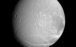 "<h1>PIA09832:  Cracked-up Dione</h1><div class=""PIA09832"" lang=""en"" style=""width:776px;text-align:left;margin:auto;background-color:#000;padding:10px;max-height:150px;overflow:auto;""><p>Bright, icy canyons stretch across the surface of Dione.</p><p>This view looks toward the Saturn-facing side of Dione (1,126 kilometers, or 700 miles across). North is up and rotated 23 degrees to the right. This is a more distant and more southerly view of the terrain seen in <a href=""/catalog/PIA09830"">PIA09830</a>.</p><p>The image was taken in visible light with the Cassini spacecraft narrow-angle camera on Jan. 4, 2008. The view was acquired at a distance of approximately 306,000 kilometers (190,000 miles) from Dione and at a Sun-Dione-spacecraft, or phase, angle of 38 degrees. Image scale is 2 kilometers (1 mile) per pixel.</p><p>The Cassini-Huygens mission is a cooperative project of NASA, the European Space Agency and the Italian Space Agency. The Jet Propulsion Laboratory, a division of the California Institute of Technology in Pasadena, manages the mission for NASA's Science Mission Directorate, Washington, D.C. The Cassini orbiter and its two onboard cameras were designed, developed and assembled at JPL. The imaging operations center is based at the Space Science Institute in Boulder, Colo.</p><p>For more information about the Cassini-Huygens mission visit <a href=""http://saturn.jpl.nasa.gov"">http://saturn.jpl.nasa.gov/home/index.cfm</a>. The Cassini imaging team homepage is at <a href=""http://ciclops.org"">http://ciclops.org</a>.<br /><br /><a href=""http://photojournal.jpl.nasa.gov/catalog/PIA09832"" onclick=""window.open(this.href); return false;"" title=""Voir l'image 	 PIA09832:  Cracked-up Dione	  sur le site de la NASA"">Voir l'image 	 PIA09832:  Cracked-up Dione	  sur le site de la NASA.</a></div>"