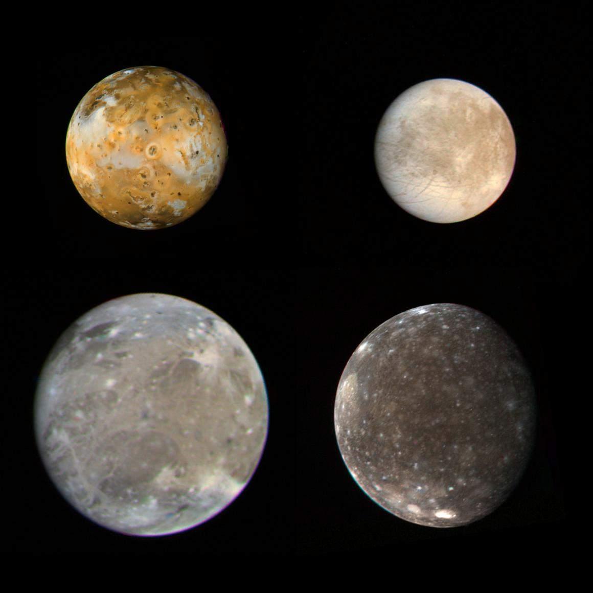 Photos des satellites de Jupiter ★ Planète Astronomie