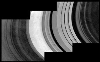 "<h1>PIA02242:  Mosaic of Saturn's rings</h1><div class=""PIA02242"" lang=""en"" style=""width:800px;text-align:left;margin:auto;background-color:#000;padding:10px;max-height:150px;overflow:auto;"">This detailed mosaic of the underside of the Cassini Division was obtained by Voyager 1 with a resolution of about 10 kilometers. The classical Cassini Division appears here to the right of center as five bright rings with substantial blacks gap on either side. The inner edge of the A Ring, to the left of center, is the brightest part of this image. The fine-scale wave structure in this region has been interpreted as being the result of gravitational density waves.<br /><br /><a href=""http://photojournal.jpl.nasa.gov/catalog/PIA02242"" onclick=""window.open(this.href); return false;"" title=""Voir l'image 	 PIA02242:  Mosaic of Saturn's rings	  sur le site de la NASA"">Voir l'image 	 PIA02242:  Mosaic of Saturn's rings	  sur le site de la NASA.</a></div>"