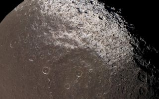 "<h1>PIA06167:  Dark-stained Iapetus</h1><div class=""PIA06167"" lang=""en"" style=""width:800px;text-align:left;margin:auto;background-color:#000;padding:10px;max-height:150px;overflow:auto;""><p>This near-true color view from Cassini reveals the colorful and intriguing surface of Saturn's moon Iapetus in unrivaled clarity.</p><p>The images taken with different spectral filters and used for this composite were taken at the same time as the clear frames used in <a href=""/catalog/PIA06166"">PIA06166</a>. The use of color on Iapetus is particularly helpful for discriminating between shadows (which appear black) and the intrinsically dark terrain (which appears brownish).</p><p>This image shows the northern part of the dark Cassini Regio and the transition zone to a brighter surface at high northern latitudes. Within the transition zone, the surface is stained by roughly north-south trending wispy streaks of dark material. The absence of an atmosphere on Iapetus means that the material was deposited by some means other than precipitation, such as ballistic placement from impacts occurring elsewhere on Iapetus, or was captured from elsewhere in the Saturn system.</p><p>Iapetus's north pole is not visible here, nor is any part of the bright trailing hemisphere.</p><p>Images taken with infrared (centered at 930 nanometers), green (568 nanometers), and ultraviolet light (338 nanometers) filters were combined to create this image. The view was obtained with the Cassini spacecraft narrow angle camera on Dec. 31, 2004, at a distance of about 172,900 kilometers (107,435 miles) from Iapetus. Resolution achieved in the original image was 1 kilometer (0.6 miles) per pixel. The image has been magnified by a factor of two to aid visibility of surface features. </p><p>The Cassini-Huygens mission is a cooperative project of NASA, the European Space Agency and the Italian Space Agency. The Jet Propulsion Laboratory, a division of the California Institute of Technology in Pasadena, manages the mission for NASA's Science Mission Directorate, Washington, D.C. The Cassini orbiter and its two onboard cameras were designed, developed and assembled at JPL. The imaging team is based at the Space Science Institute, Boulder, Colo.</p><p>For more information about the Cassini-Huygens mission visit <a href=""http://saturn.jpl.nasa.gov"">http://saturn.jpl.nasa.gov</a>. For images visit the Cassini imaging team home page <a href=""http://ciclops.org"">http://ciclops.org</a>.</p><br /><br /><a href=""http://photojournal.jpl.nasa.gov/catalog/PIA06167"" onclick=""window.open(this.href); return false;"" title=""Voir l'image 	 PIA06167:  Dark-stained Iapetus	  sur le site de la NASA"">Voir l'image 	 PIA06167:  Dark-stained Iapetus	  sur le site de la NASA.</a></div>"